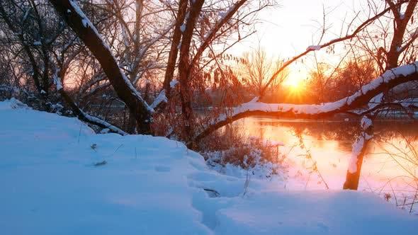 Thumbnail for river landscape, sunset.