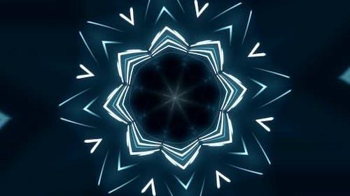 Fliegen durch leuchtende Neonlinien, die ein Tunnellicht erzeugen, moderne Beleuchtung, 4k nahtlose Schleife