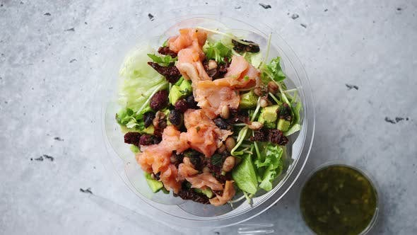 Thumbnail for A Smoked Salmon Take Away Salad