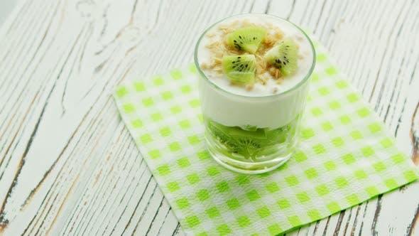 Thumbnail for Glass with Kiwi and Yogurt