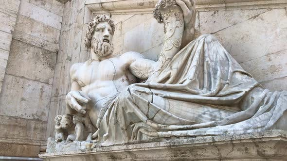 Thumbnail for Marble Statue of an Ancient Philosopher and Thinker