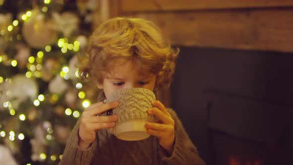 Thumbnail for Pretty Boy Drinking Milk on Christmas