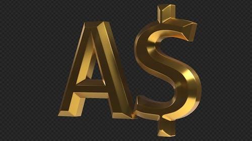 AUD Australian Dollar Rotating Sign