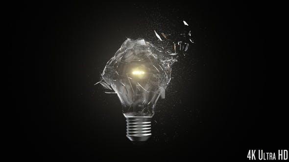 Thumbnail for 4K Isolated Lightbulb Shatter