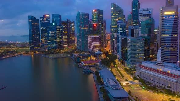 the Marina Bay Sands in Singapore City Skyline.