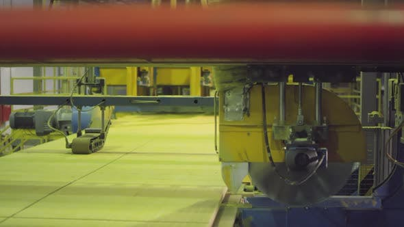 Thumbnail for Cutter Machine in Operation at Mineral Wool Manufacturing Plant
