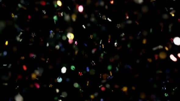 Thumbnail for Multicolored Confetti Flying After Being Exploded Stars and Hearts Particles Flying and Falling Down