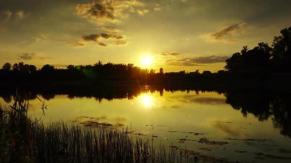 Thumbnail for River Sunset Beautiful Landscape, Timelapse