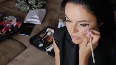Makeup Artist Does Makeup