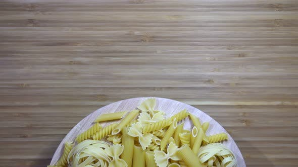 Thumbnail for Uncooked Rotating Various Pasta