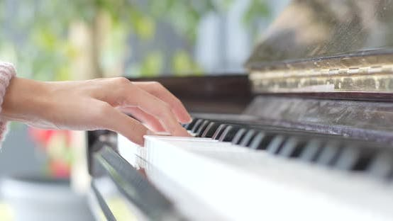 Thumbnail for Woman hand playing piano