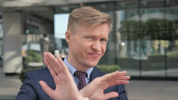Thumbnail for Rejecting, Disliking Gesture by Businessman