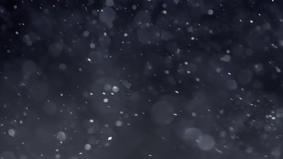 Floating Abstract Particle Bokeh on Dark Background