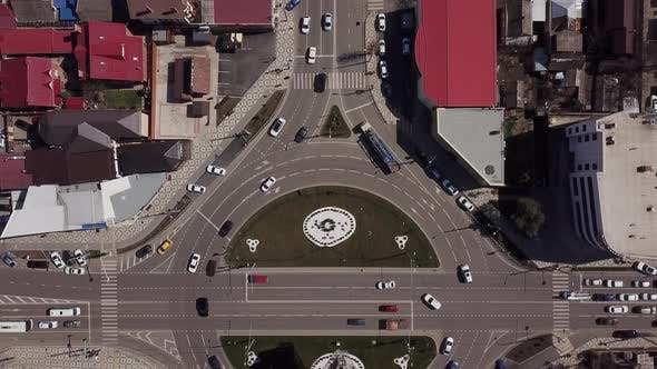 Thumbnail for Top Down Roundabout Road Traffic Circle