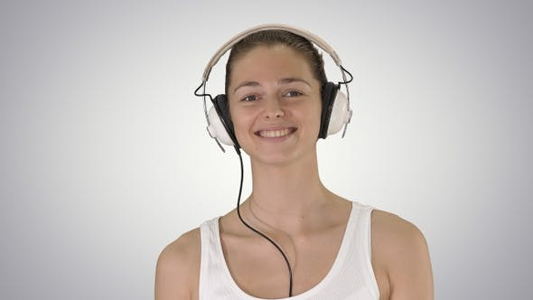 Thumbnail for Music people and technology concept - happy smiling woman