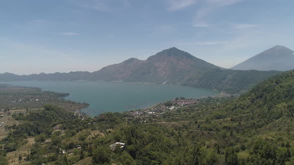 Thumbnail for Mountain Landscape Lake and Volcano Batur