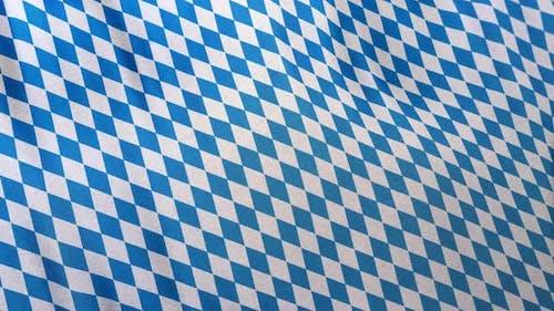 Full Frame Bavarian Blue White Pattern Flag