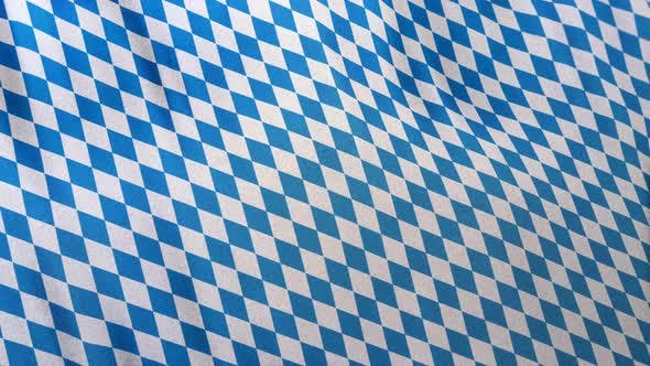 Thumbnail for Full Frame Bavarian Blue White Pattern Flag