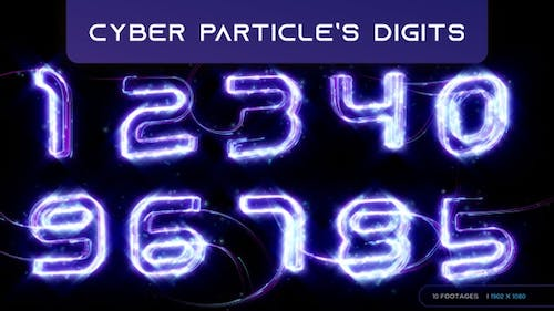 Cyber Particles Digits