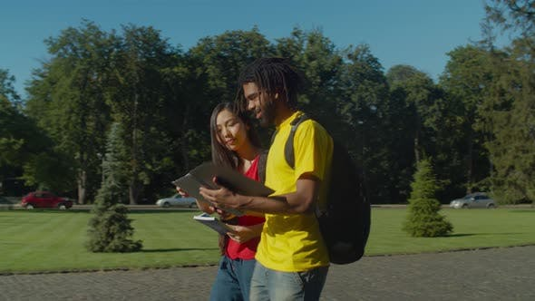 Thumbnail for Multiracial Couple Going To University Course