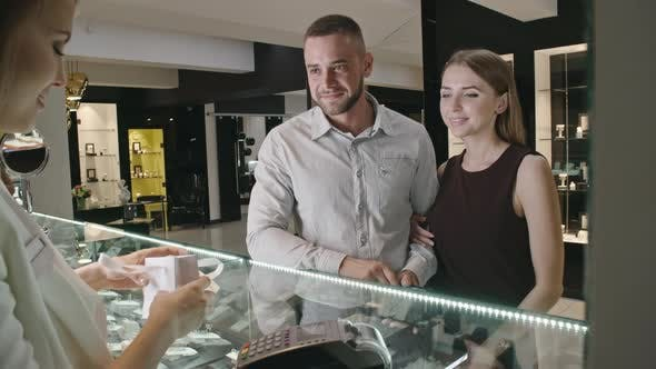 Thumbnail for Couple Satisfied with Jewelry Shopping