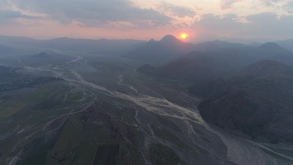 Thumbnail for Mountain Landscape at Sunset. Pinatubo, Philippines