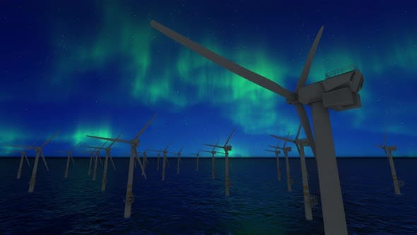 Thumbnail for Wind Turbines Time-lapse