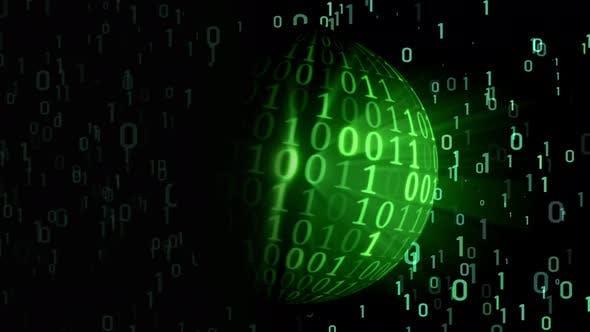 Technology planet - matrix binary codes - digital world