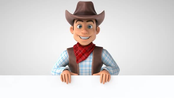 10 cartoon Cowboys