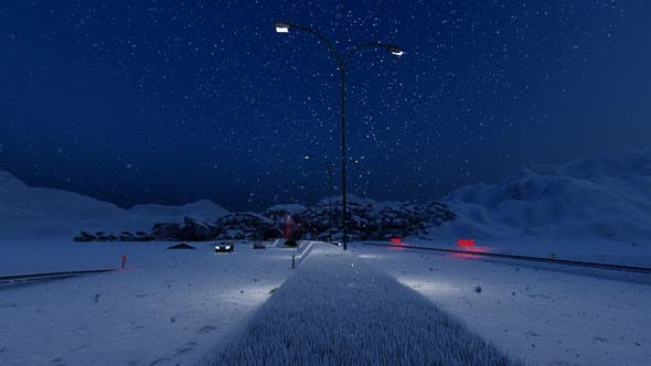 Thumbnail for Vehicles Passing Through Tunnel in Snowy Weather at Night