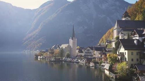 View Of Beautiful Austrian Mountains Village Hallstatt 9
