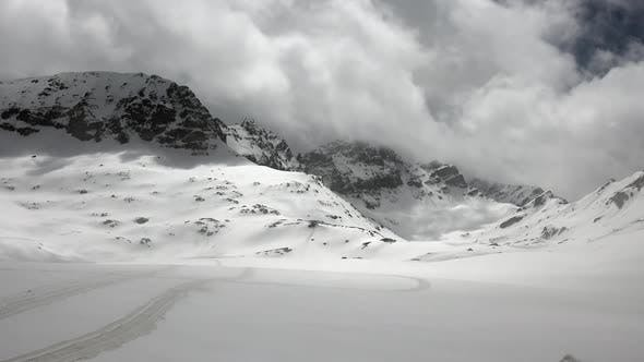 Thumbnail for High Altitude Snowy Mountain Ridge in Terrestrial Winter Climate