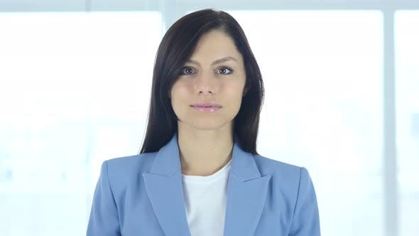 Thumbnail for Portrait of Serious Young Businesswoman