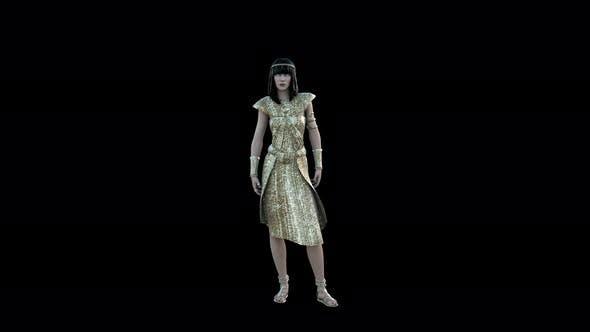 Cleopatra Isis - Ancient Egyptian God 4K