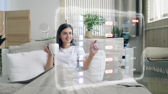 Cover Image for Browsing Internet Using HUD Hologram Panel