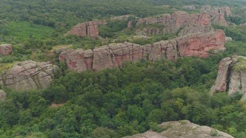 Natural red rocks in belogradchik