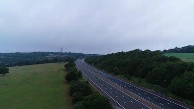 Aerial Highway Of Neighbourhood 4k