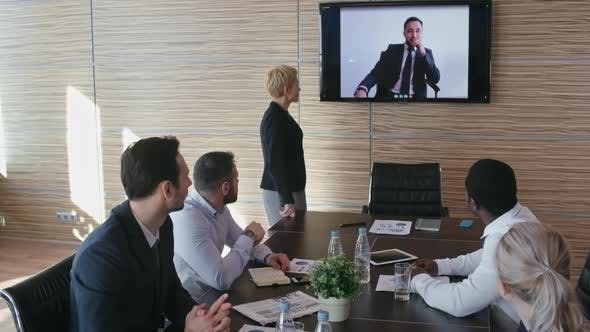Thumbnail for Business Team at Video Conference