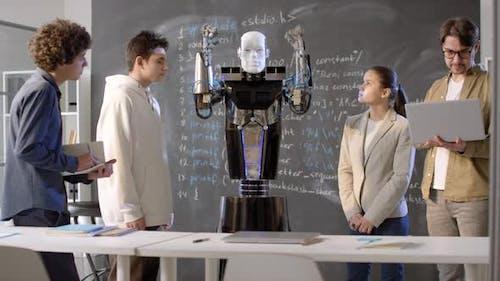 Quantum Robot Demonstrating Abilities