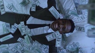 Businessman Waking Up Rich