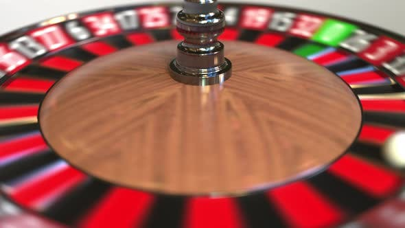 Thumbnail for Casino Roulette Wheel Ball Hits 18 Eighteen Red
