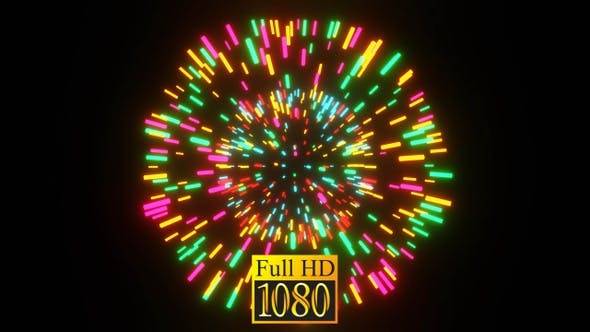Pulsating Neon Ball Vj Loop HD
