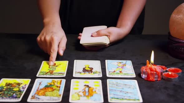 Thumbnail for Tarot Reader Hands Shuffling Tarot Cards 12