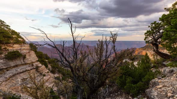Zeitraffer am Nordrand des Grand Canyons
