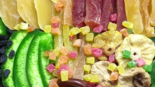 Assorted Dried Fruits And Candied Fruits