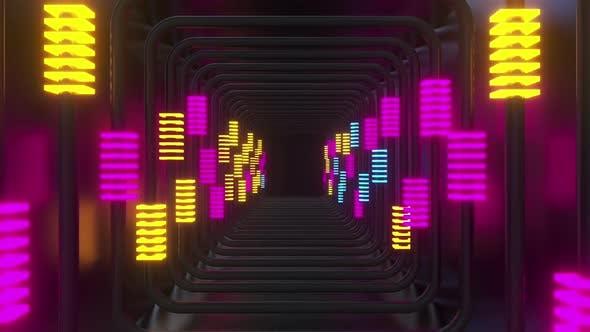 Bunte Linie Neon 01 Hd
