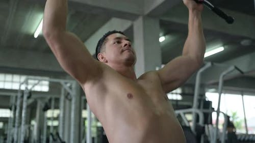 sports person lifestyle, athlete man exercise in gym fitness for strength training and bodybuilding