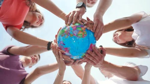 Children Holding the Earth The Future is in Their Hands