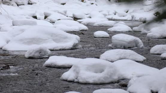 Thumbnail for Close Up of River Water in the Forest in Winter