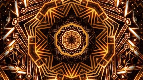 Golden Art Deco Ornament Kaleidoscope